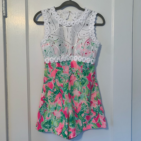 Lilly Pulitzer Dresses & Skirts - Lilly Pulitzer Sadie Romper Raz Berry Catty Shack